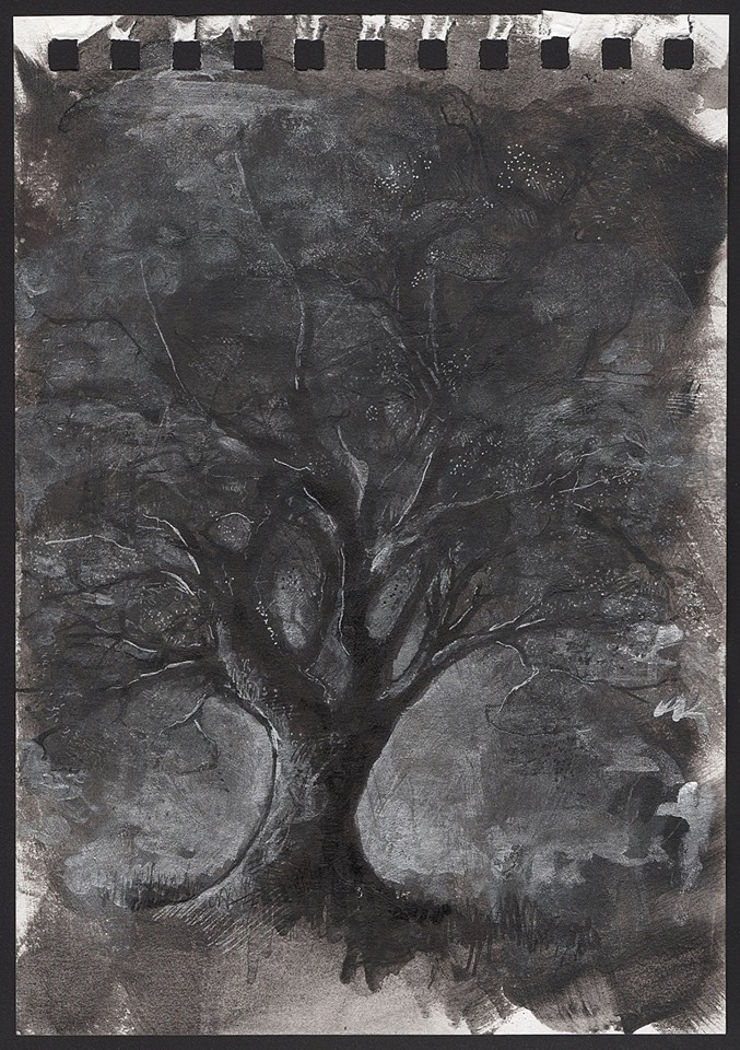 Black tree study - Riccardo Martinelli - 2016