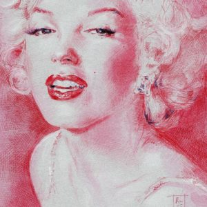 Riccardo Martinelli - Silver and red Marilyn (part) - 2015