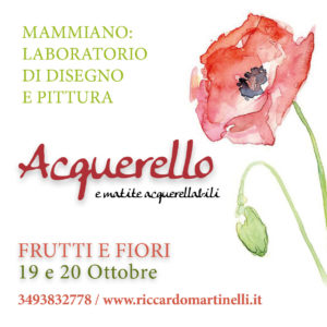 Acquerello - workshop su frutti e fiori